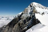 The Eiger (3,970 m (13,025 ft) - a Mountain in the Bernese Alps in Switzerland — Stock Photo