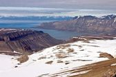 Isfjorden Fjord on the Svalbard Archipelago — Foto Stock