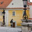 Stock Photo: Lanterns in Chateau Valtice, Moravia,