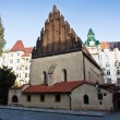Old New Synagogue in Prague - Stock Photo