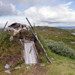 Original Lappish Shelter in Swedish Tundra — Stock Photo