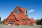 Kościół w kirunie w lecie — Zdjęcie stockowe
