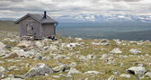 Emergency Hut in Tundra — Stock Photo