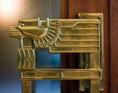 Decoratieve brons ingericht deurhendel — Stockfoto