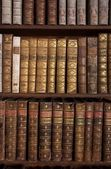 Antique Books on Bookshelf — Stock Photo