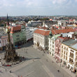 Постер, плакат: The Holy Trinity Column in Olomouc Aerial view