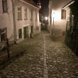 Stock Photo: Jewish town in Trebic in Night (Moravia, Czech Republic)
