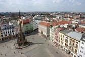 The Holy Trinity Column in Olomouc (Aerial view) — Stock Photo