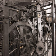 Medieval astronomical clock gearing - interior — Stock Photo