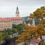 Visa av cesky krumlov slott — Stockfoto