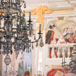 Decorative Chandelier in Chateau Krumlov - Stock Photo
