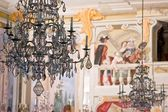 Decorative Chandelier in Chateau Krumlov — Stock Photo