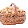 Nut in basket — Stock Photo