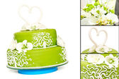 Green Cake — Stock Photo