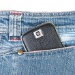 Stock Photo: Phone in jeans