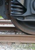 Train wheel — Stock Photo