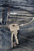 Keys in the pocket — Stock Photo