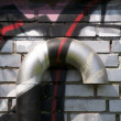 Ventilation with graffiti — Stockfoto #11437799