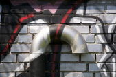 Ventilation with graffiti — Stock Photo