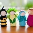 Handmade Waldorf soft toys. — Stock Photo #11050698