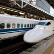 Japan bullet train - Stock Photo