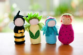Handmade Waldorf soft toys. — Stock Photo