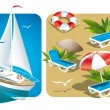 Rest on the beach — Stock Vector