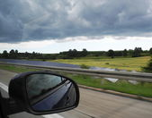 Traveling in a storm — Stock Photo