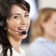 Women in a busy call centre — Stock Photo