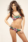 Young woman in bikini — Stockfoto