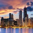 skyline di Chicago — Foto Stock