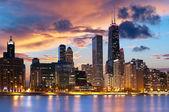 芝加哥天际线 — 图库照片