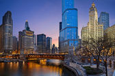 Chicago riverside. — Stock Photo
