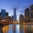 Chicago riverside. - Stock Photo