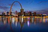 City of St. Louis skyline. — 图库照片