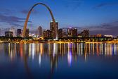 City of St. Louis skyline. — Stock Photo