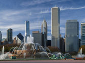Chicago,Buckingham Fountain — Stock Photo
