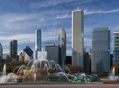Chicago,Buckingham Fountain — Stock Photo