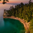 Lake Superior Sunset. - Stock Photo