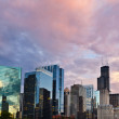 Sunset in the city of Chicago. — Stock Photo