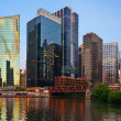 Chicago downtown riverside — Stockfoto #11148631