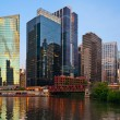 Chicago downtown riverside. - Stock Photo
