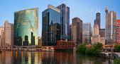 Chicago downtown riverside. — Stok fotoğraf
