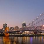 Cincinnati skyline panorama. — Stock Photo