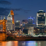 Cincinnati skyline . — Stock Photo