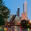 Stock Photo: Chicago downtown.