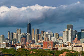 Colorful Chicago skyline — Zdjęcie stockowe