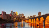 Image of Minneapolis downtown at twilight. — Stock Photo