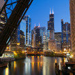 Chicago downtown riverside. — Stock Photo
