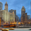 Chicago rivier — Stockfoto